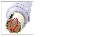 如果同轴电缆的针被折断,有收不到信号的可能性。